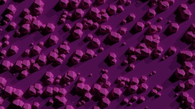 ピンクの表面の背景に抽象的な幾何学iosphere Premium写真