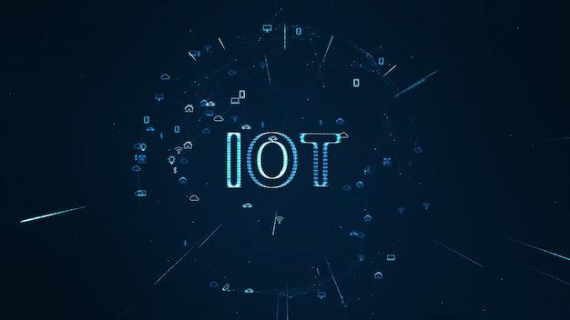 グローバルネットワークの概念iot(モノのインターネット)。 Premium写真