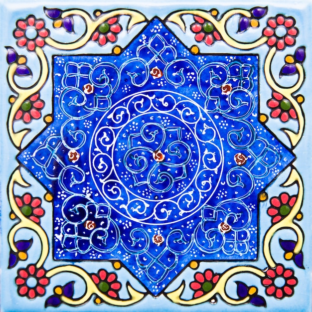 Iranian decorative ceramic tiles Premium Photo