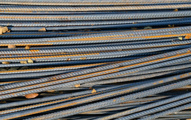 Iron rods for construction background Premium Photo