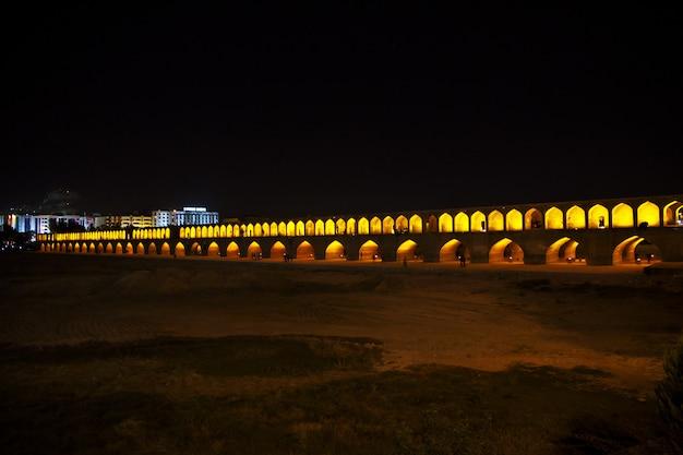 Isfahan / iran - 03 oct 2012: night in ancient city isfahan in iran Premium Photo