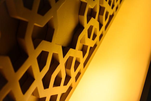 Premium Photo | Islamic ornament of mosque interior which