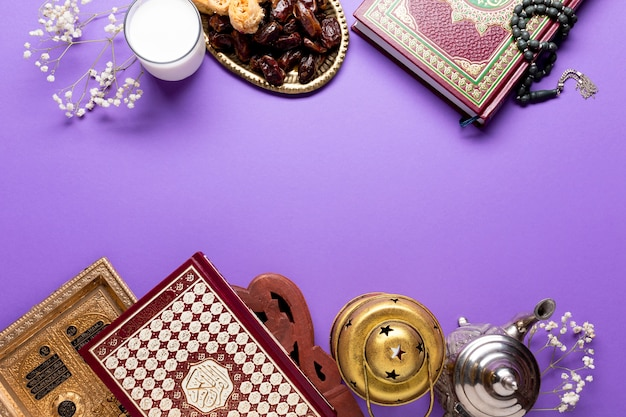 Islamic ornaments with copy space Free Photo