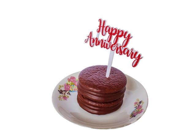 Isolate Of Happy Anniversary Cake Photo Premium Download