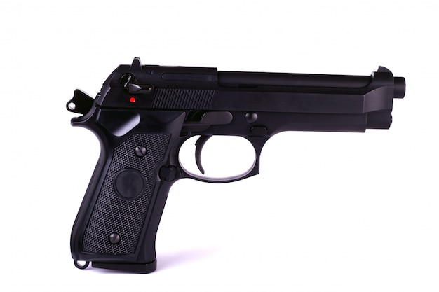 Isolated airsoft gun Premium Photo
