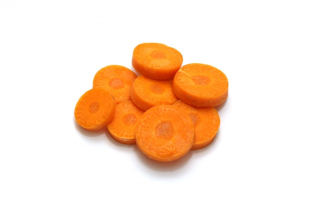 Isolated carrot sliced Premium Photo