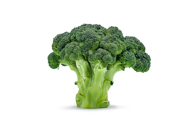 Isolated green raw broccoli cabbage Premium Photo