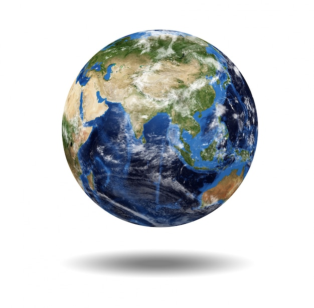 Isolated planet globe Premium Photo