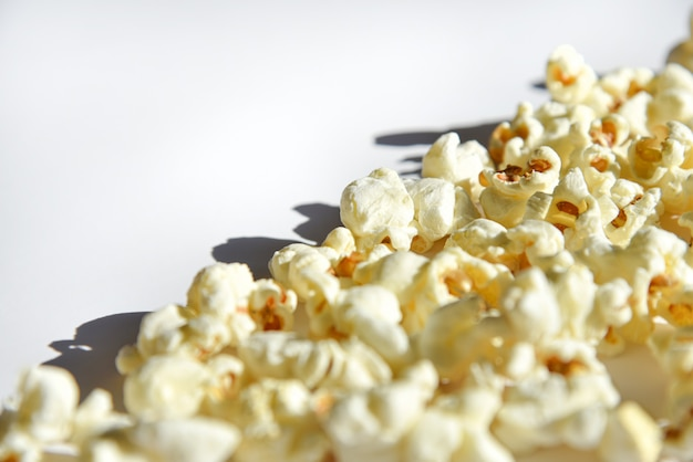Isolated popcorn on white background Premium Photo