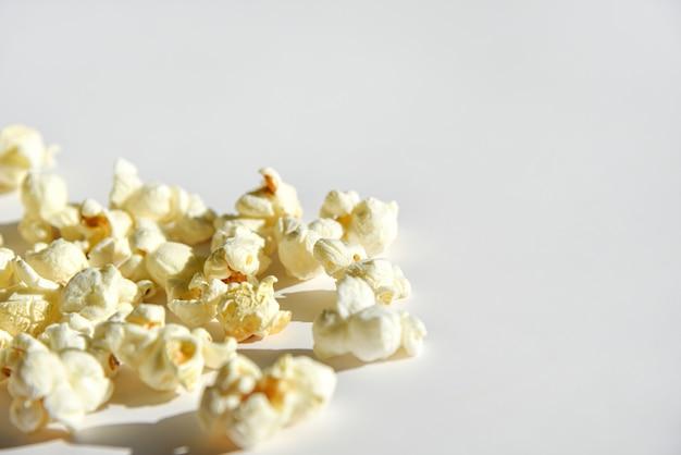 Isolated popcorn on white background Premium Photo