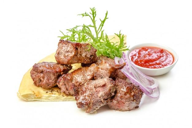 Isolated roasted meat Premium Photo