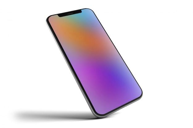 Isolated smartphone  - 3d rendering Premium Photo