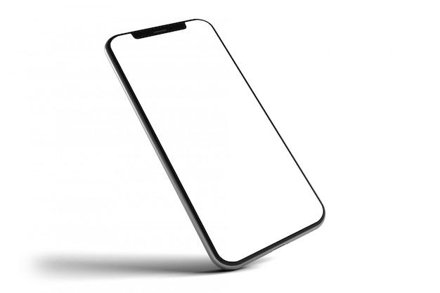 Isolated smartphone mockup - 3d rendering Premium Photo