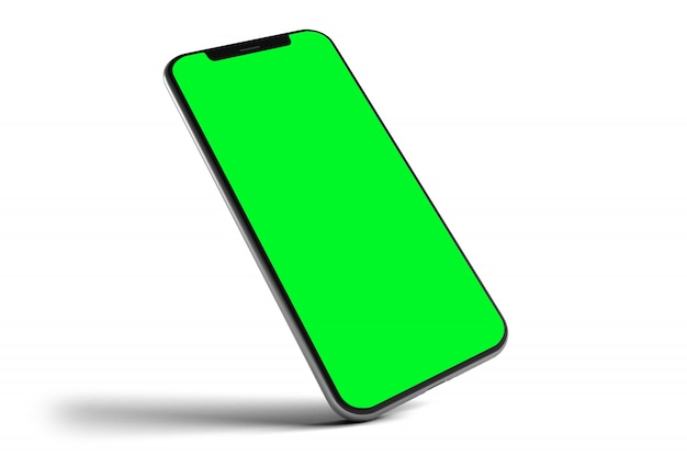 Isolated smartphone mockuping Premium Photo