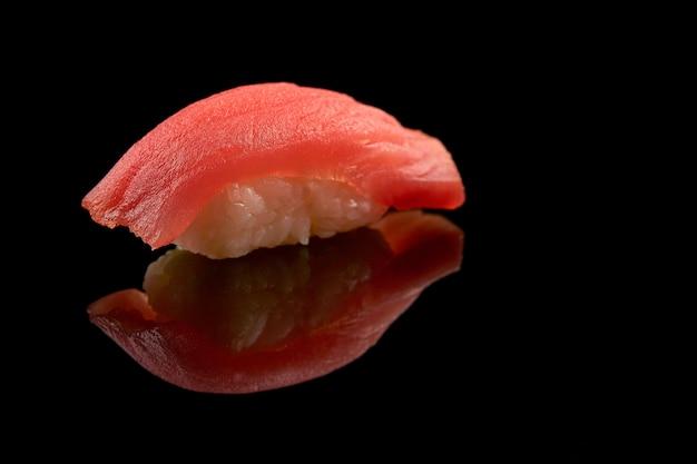 Isolated sushi closeup Free Photo