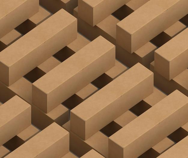 Картонные коробки изометрического дизайна Бесплатные Фотографии