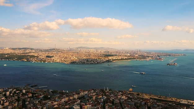 Istanbul and bosphorus from a bird's eye view Free Photo