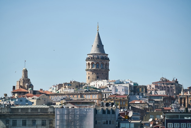 Istanbul city view from turkey Premium Photo