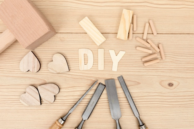 Do it yourself woodwork carpentry concept Premium Photo