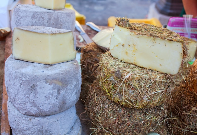 Italian cheeses Premium Photo