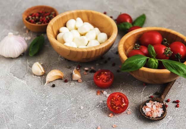 Italian food ingredients Premium Photo