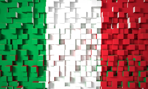 Italian geometric flag Premium Photo