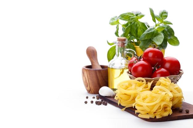 Italian pasta ingredients Premium Photo