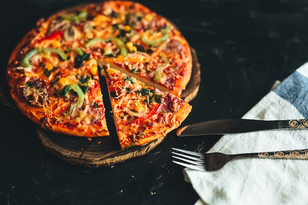 Italian pizza Premium Photo