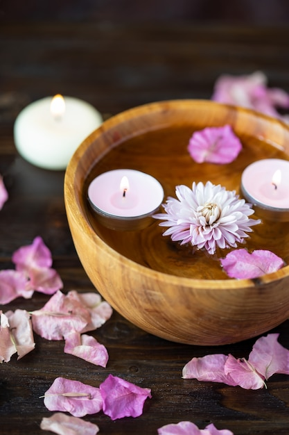 Items for aromatherapy, massage. relax and spa theme Premium Photo