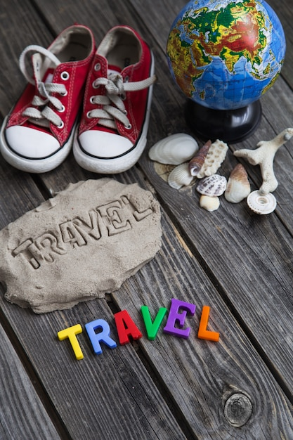 アイテム旅行者、旅行のコンセプト 無料写真