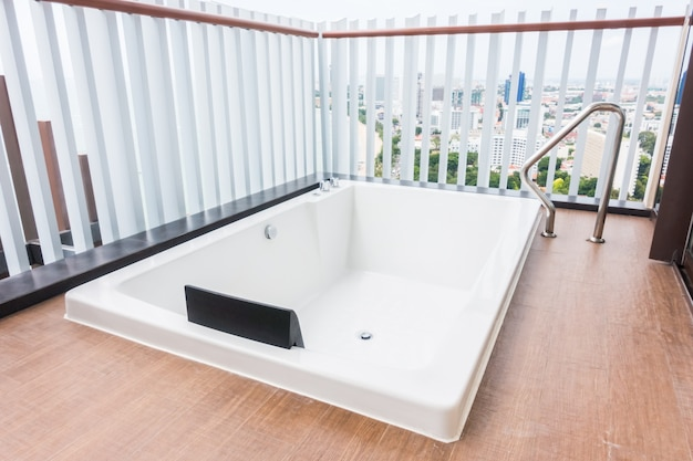 Jacuzzi on the terrace Free Photo