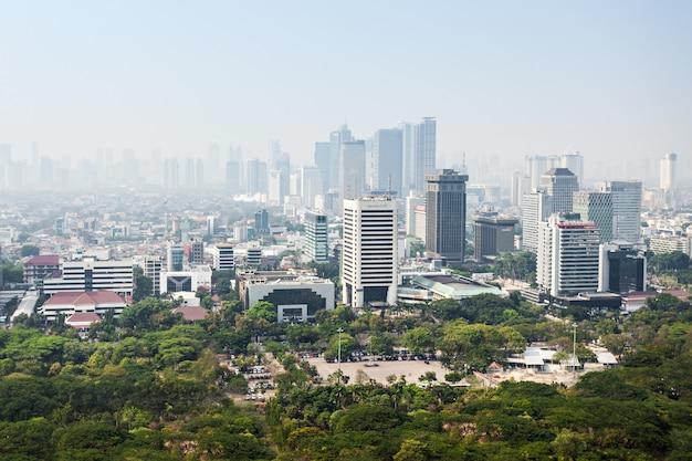 Jakarta aerial view Premium Photo