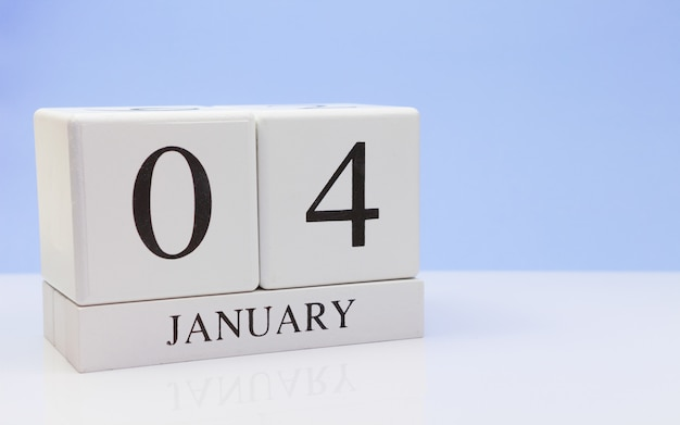 January 04st. day 04 of month Premium Photo