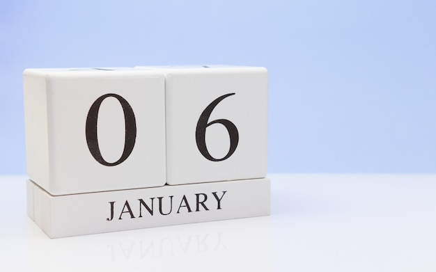 January 06st. day 06 of month Premium Photo