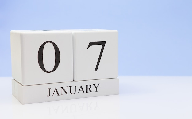 January 07st. day 07 of month Premium Photo