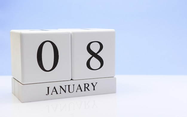 January 08st. day 08 of month Premium Photo