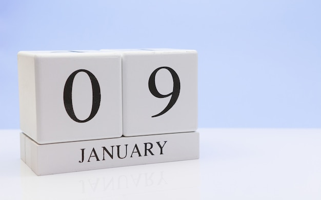 January 09st. day 09 of month Premium Photo