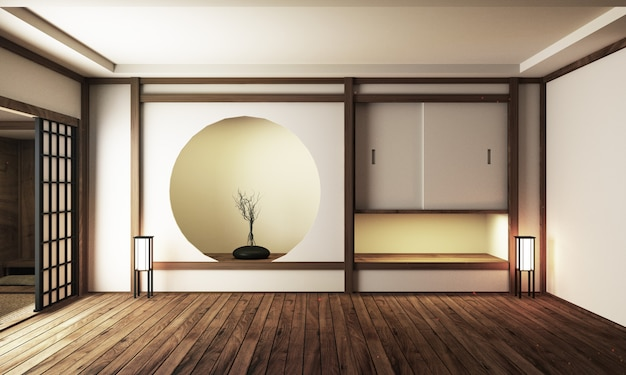 Premium Photo Japan Interior Design Modern Living Room 3d Illustration 3d Rendering