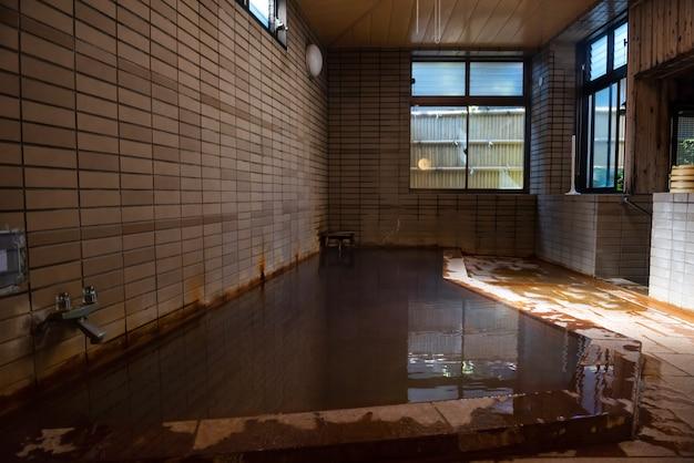Japan onsen in traditional ryokan hotel Premium Photo
