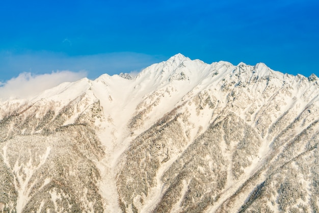 Japan winter mountain with snow covered Free Photo