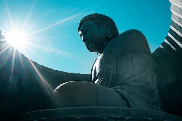Japanese buddhist statue of buddha Premium Photo