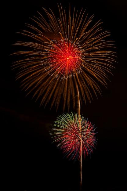 Japanese firework background Premium Photo