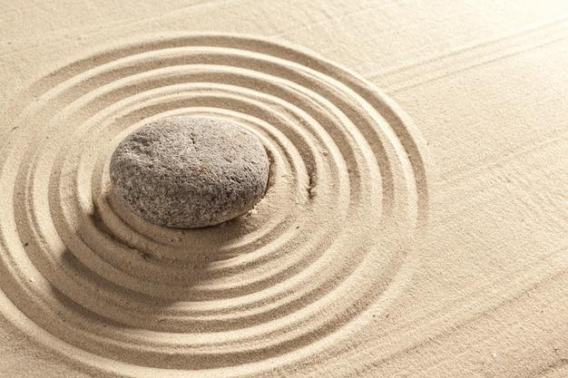 Japanese garden zen stone Premium Photo