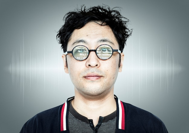 Japanese programmer guy Free Photo