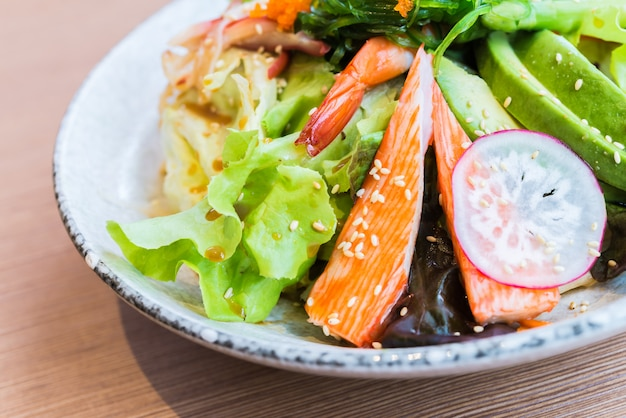 Japanese seafood salad Free Photo