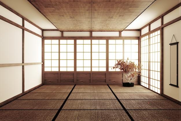Japanese style empty room Premium Photo