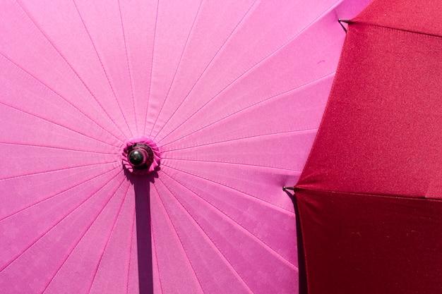 Japanese umbrella with sakura pattern. Premium Photo