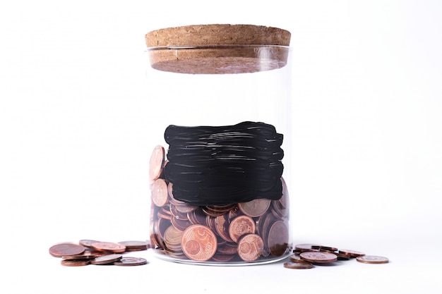 Jar for coins Free Photo