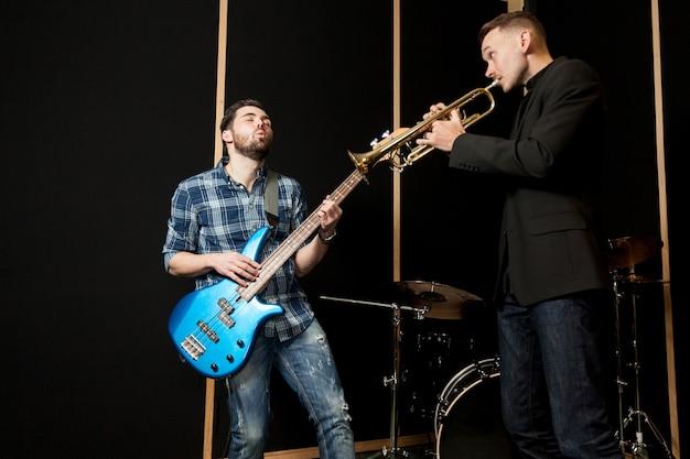 Jazz band on stage Free Photo