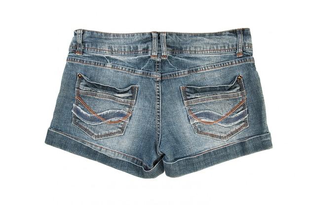 Jeans shorts isolated on white Premium Photo